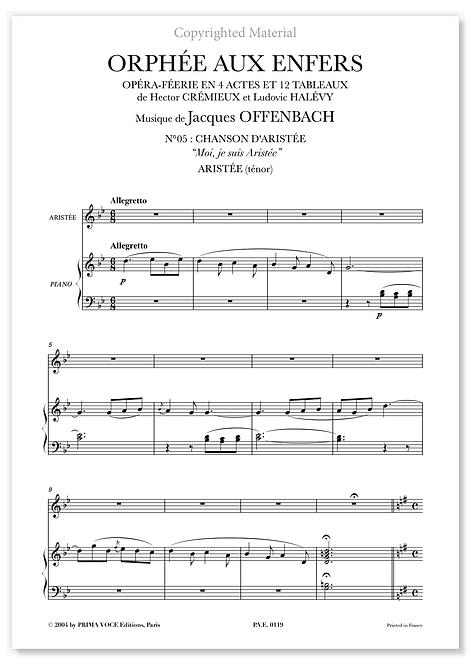 """Offenbach • ORPHÉE AUX ENFERS • """"Moi, je suis Aristée"""" (ténor)"""