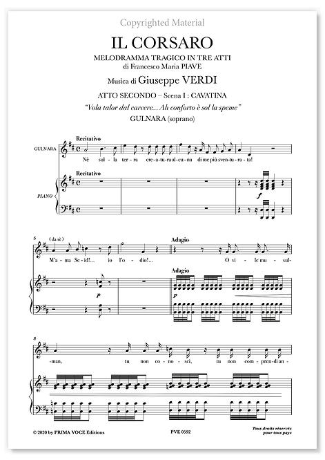 """Verdi • CORSARO (IL) • """"Vola talor dal carcere..."""" (soprano)"""