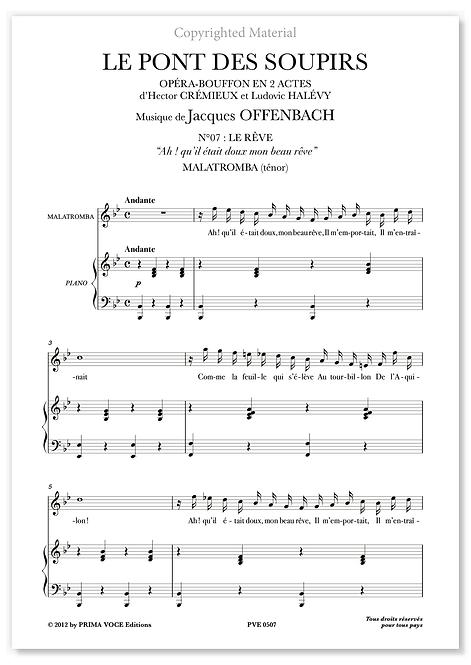 """Offenbach • PONT DES SOUPIRS (LE) • """"Ah ! qu'il était doux, mon beau rêve""""(tén.)"""