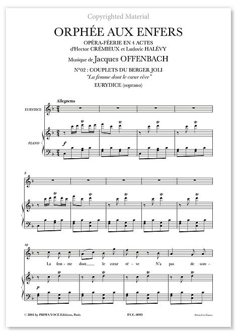 """Offenbach • ORPHÉE AUX ENFERS • """"La femme dont le coeur rêve"""" (soprano)"""
