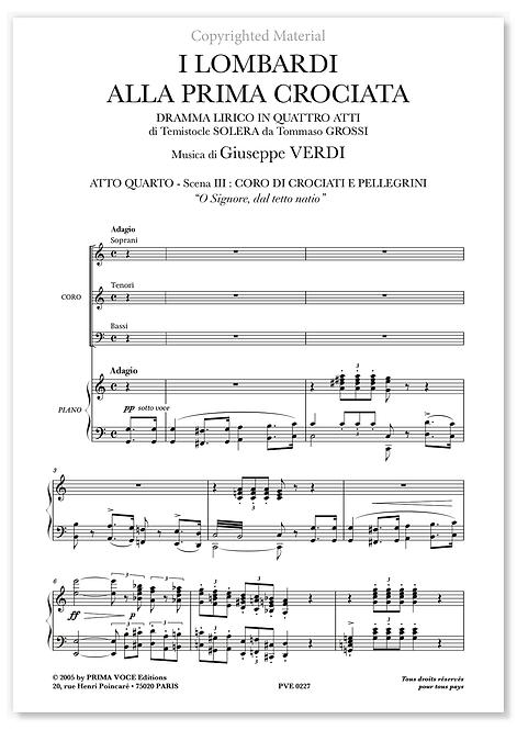 """Verdi • LOMBARDI (I) • """"O Signore, dal tetto natio"""" (choeurs)"""