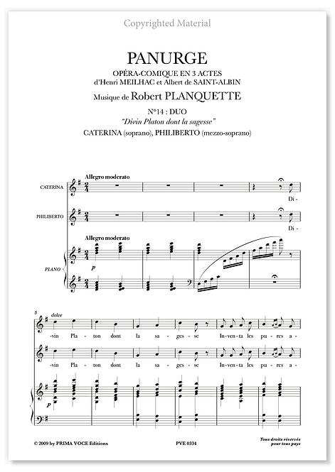 """Planquette • PANURGE • """"Divin Platon dont la sagesse"""" (sop./mezzo)"""