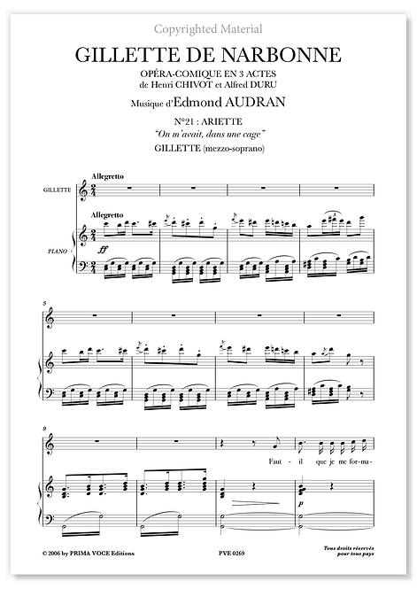"Audran • GILLETTE DE NARBONNE • ""Faut-il que je me formalise"" (mezzo-soprano)"