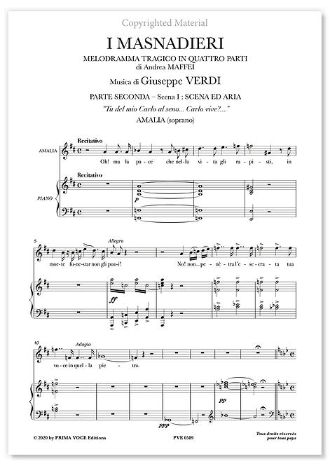 """Verdi • MASNADIERI (I) • """"Tu del mio Carlo al seno..."""" (soprano)"""