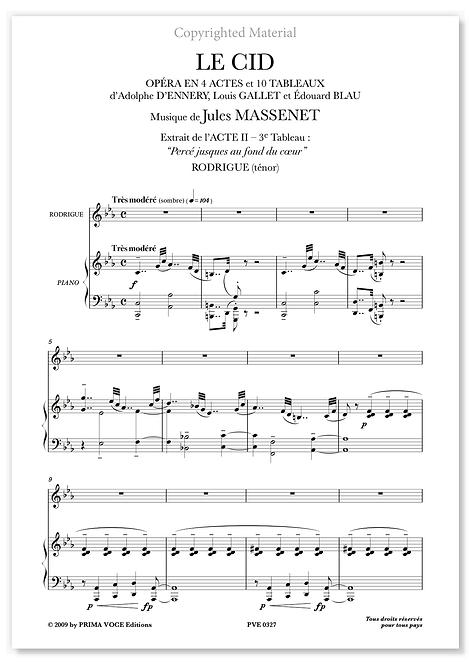 """Massenet • CID (LE) • """"Percé jusques au fond du coeur"""" (ténor)"""