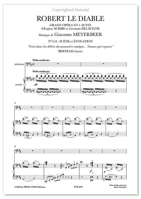 """Meyerbeer • ROBERT LE DIABLE • """"Nonnes qui reposez"""" (basse)"""