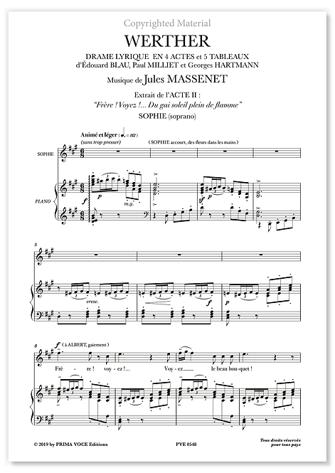 "Massenet • WERTHER • ""Du gai soleil plein de flamme (soprano)"