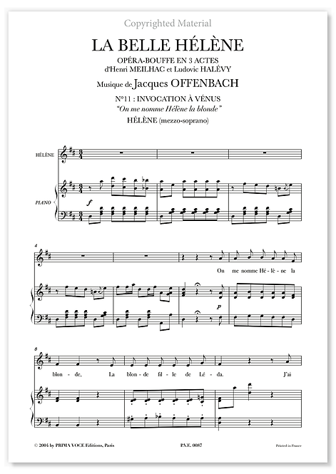 """Offenbach • BELLE HÉLÈNE (LA) • """"On me nomme Hélène la blonde"""" (mezzo-soprano)"""
