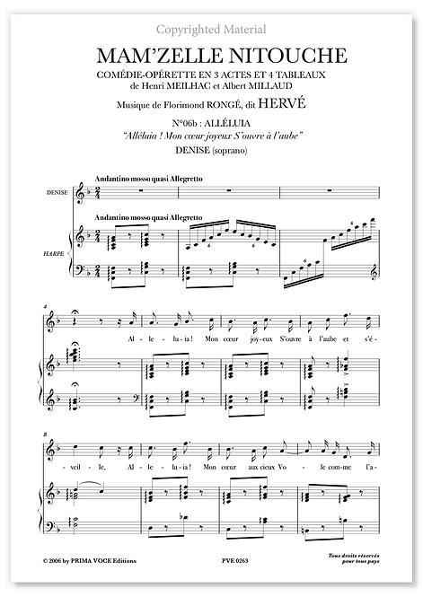 """Hervé • MAM'ZELLE NITOUCHE • """"Mon coeur joyeux S'ouvre à l'aube"""" (soprano)"""