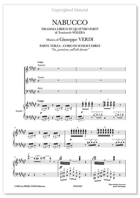 "Verdi • NABUCCO • ""Va, pensiero, sull'ali dorate"" (choeurs)"