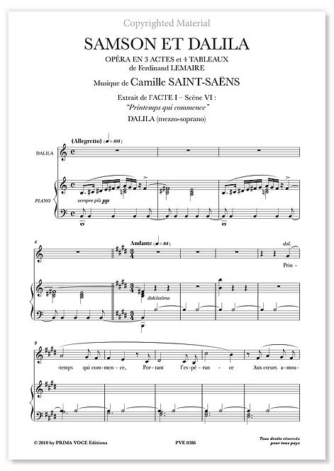 "Saint-Saëns • SAMSON ET DALILA • ""Printemps qui commence"" (mezzo-soprano)"