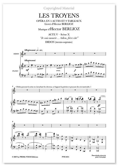 """Berlioz • TROYENS (LES) • """"Je vais mourir... Adieu, fière cité"""" (mezzo-soprano)"""