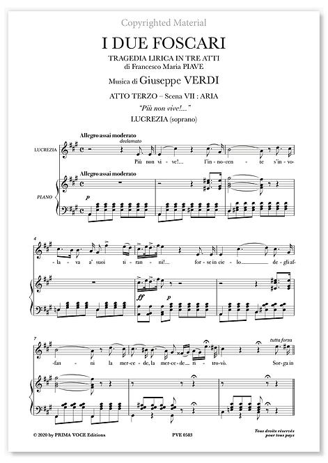 """Verdi • DUE FOSCARI (I) • """"Più non vive!..."""" (soprano)"""