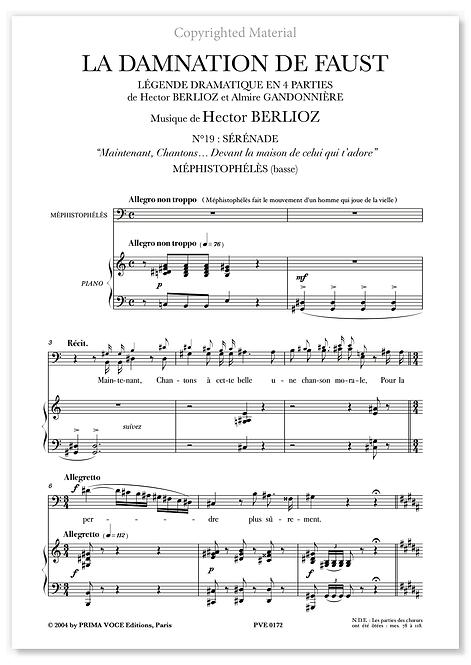 """Berlioz • DAMNATION DE FAUST (LA) – """"Devant la maison..."""" (basse)"""