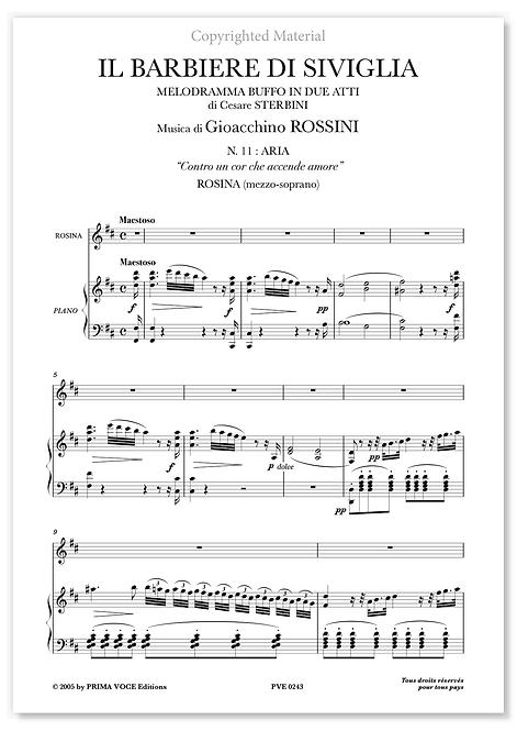 """Rossini • BARBIERE DI SIVIGLIA (IL) • """"Contro un cor che accende amore"""" (mezzo)"""