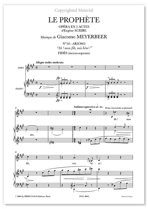 """Meyerbeer • PROPHÈTE (LE) • """"Ah ! mon fils, sois béni !"""" (mezzo-soprano)"""