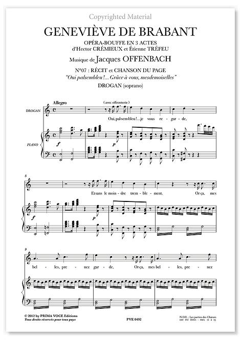 """Offenbach • GENEVIÈVE DE BRABANT • """"Grâce à vous mesdemoiselles"""" (soprano)"""