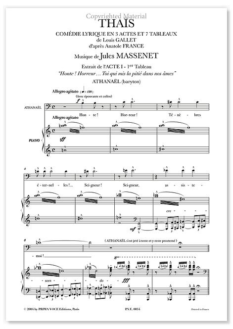 """Massenet • THAÏS • """"Toi qui mis la pitié dans nos âmes"""" (baryton)"""