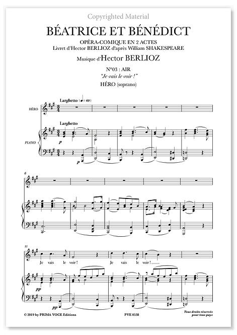 """Berlioz • BÉATRICE ET BÉNÉDICT• """"Je vais le voir ! """" (soprano)"""