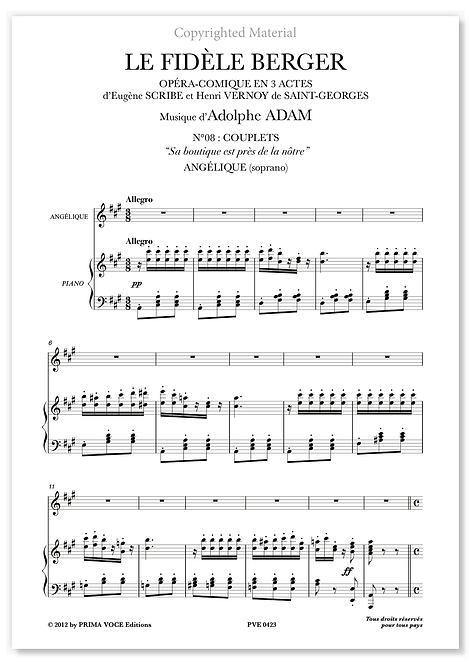 """Adam • FIDÈLE BERGER (LE) • """"Sa boutique est près de la nôtre"""" (soprano)"""