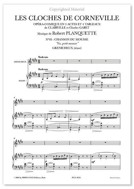 """Planquette • CLOCHES DE CORNEVILLE (LES) • """"Va, petit mousse"""" (ténor)"""