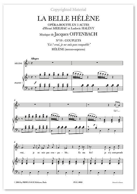 """Offenbach • BELLE HÉLÈNE (LA) • """"Là ! vrai, je ne suis pas coupable"""" (mezzo)"""