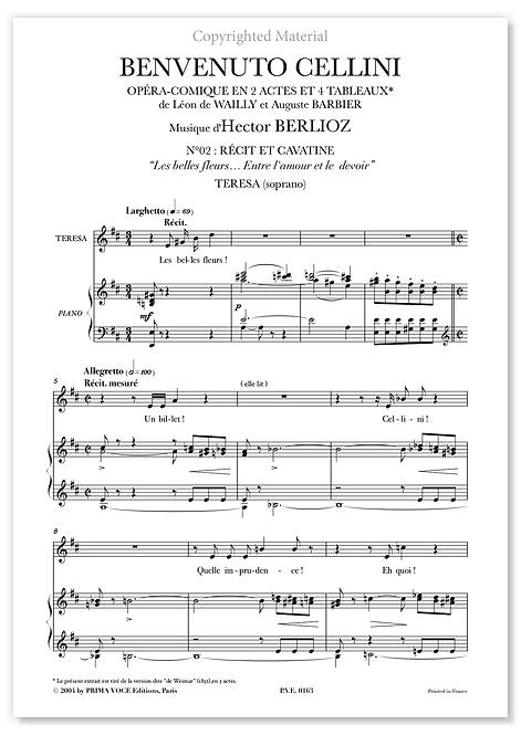 """Berlioz • BENVENUTO CELLINI – """"Entre l'amour et le devoir"""" (soprano)"""