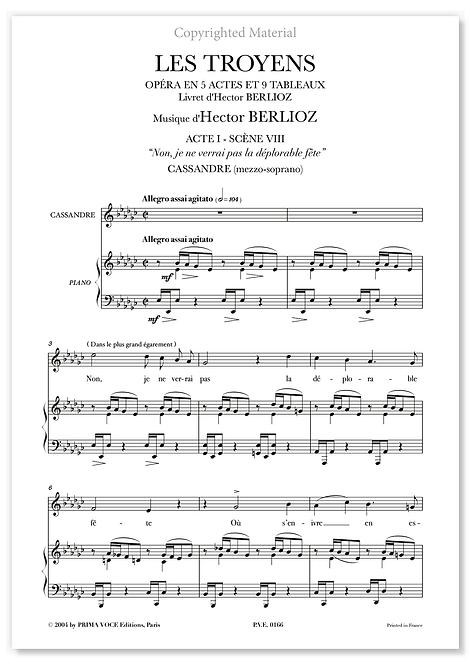 """Berlioz • TROYENS (LES) • """"Non, je ne verrai pas la déplorable fête"""" (mezzo.)"""
