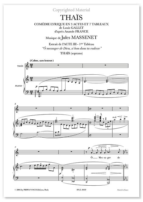 """Massenet • THAÏS • """"Ô messager de Dieu, si bon dans ta rudesse"""" (soprano)"""