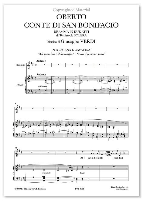 """Verdi • OBERTO, CONTE DI SAN BONIFACIO • """"sgombro è il loco alfin!..."""" (soprano)"""