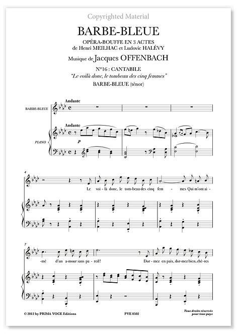 """Offenbach • BARBE-BLEUE • """"Le voilà donc, le tombeau des cinq femmes"""" (ténor)"""