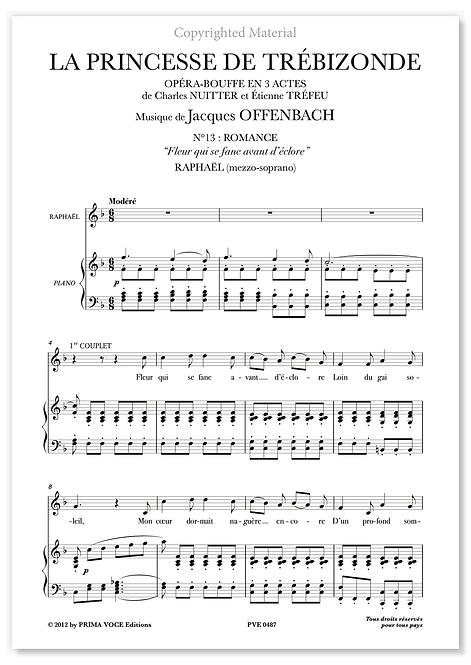 "Offenbach • PRINCESSE DE TRÉBIZONDE (LA) • ""Fleur qui se fane...""(mezzo-soprano)"