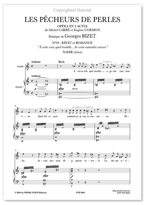 """Bizet • PÊCHEURS DE PERLES (LES) • """"Je crois entendre encore"""" (ténor)"""