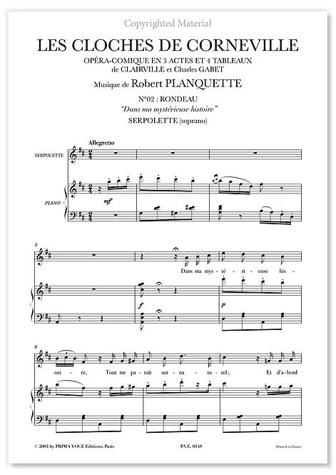"""Planquette • CLOCHES DE CORNEVILLE (LES) • """"Dans ma mystérieuse histoire"""" (sop.)"""