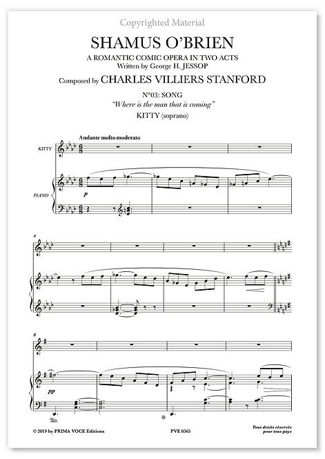 "Stanford • SHAMUS O'BRIEN • ""Where is the man that is coming?"" (soprano)"
