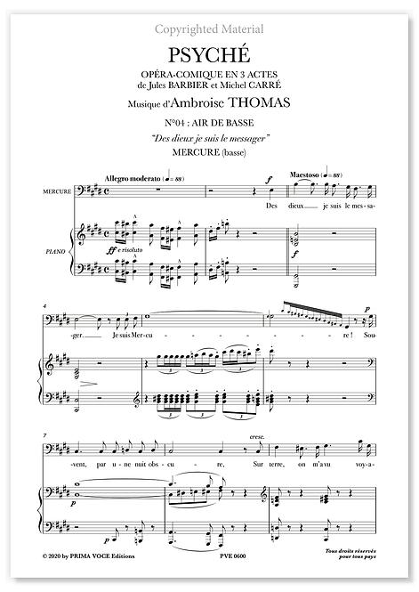 """Thomas • PSYCHÉ • """"Des dieux je suis le messager"""" (basse)"""