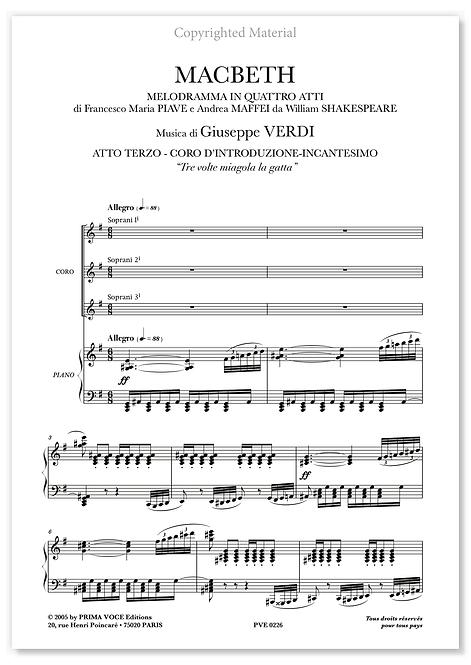 """Verdi • MACBETH • """"Tre volte miagola la gatta"""" (choeurs)"""