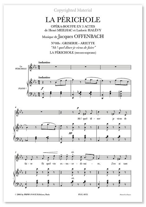 """Offenbach • PÉRICHOLE (LA) • """"Ah ! quel dîner je viens de faire"""" (mezzo-soprano)"""