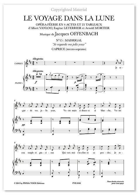 """Offenbach • VOYAGE DANS LA LUNE (LE) • """"Je regarde vos jolis yeux"""" (mezzo.)"""