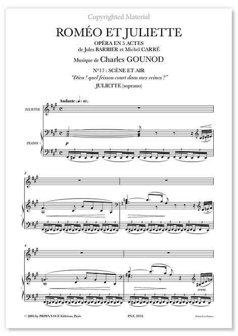"""Gounod • ROMÉO ET JULIETTE • """"Dieu ! quel frisson court dans mes veines ?""""(sop.)"""