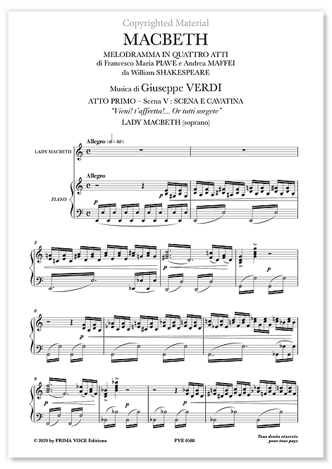 "Verdi • MACBETH • ""Vieni! t'affretta!..."" (soprano)"