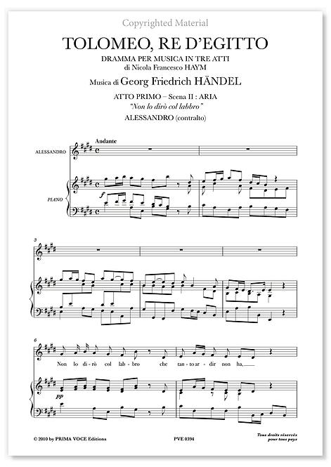 """Händel • TOLOMEO, RE D'EGITTO • """"Non lo dirò col labbro"""" (contralto)"""