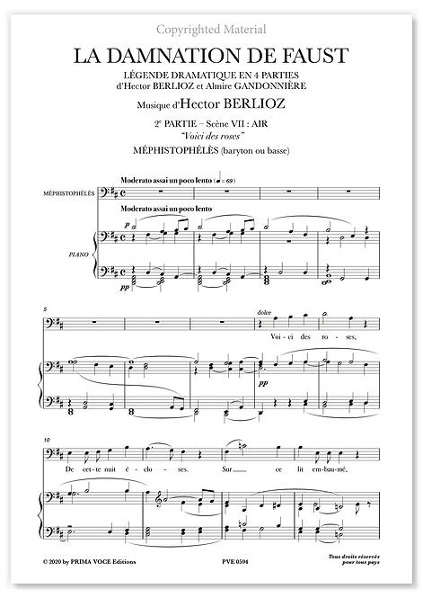 """Berlioz • DAMNATION DE FAUST (LA) • """"Voici des roses""""(basse)"""