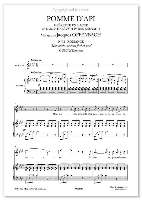 """Offenbach • POMME D'API • """"Mon oncle, ne vous fâchez pas"""" (ténor)"""
