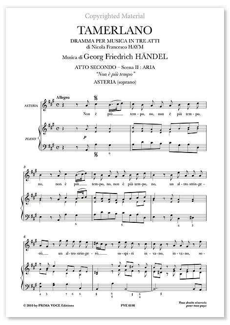 """Händel • TAMERLANO • """"Non è più tempo"""" (soprano)"""