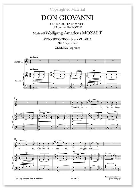 """Mozart • DON GIOVANNI • """"Vedrai carino, se sei buonino"""" (soprano)"""