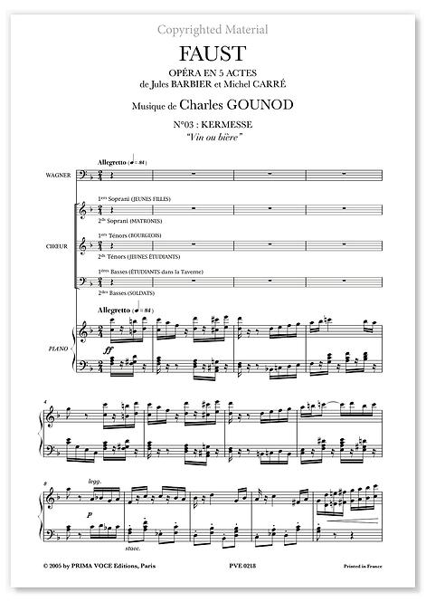 "Gounod • FAUST • ""Vin ou bière"" (choeurs)"