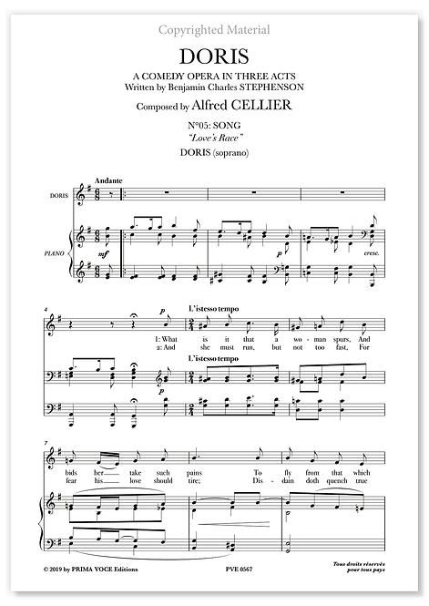 """Cellier • DORIS • """"Love's Race"""" (soprano)"""