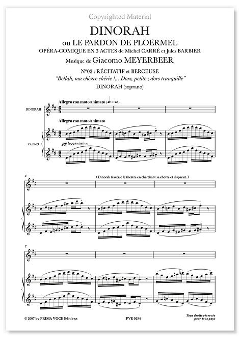 "Meyerbeer • DINORAH • ""Dors, petite; dors tranquille"" (soprano)"