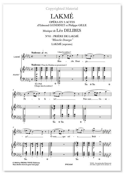 """Delibes • LAKMÉ • """"Blanche Dourga"""" (soprano)"""